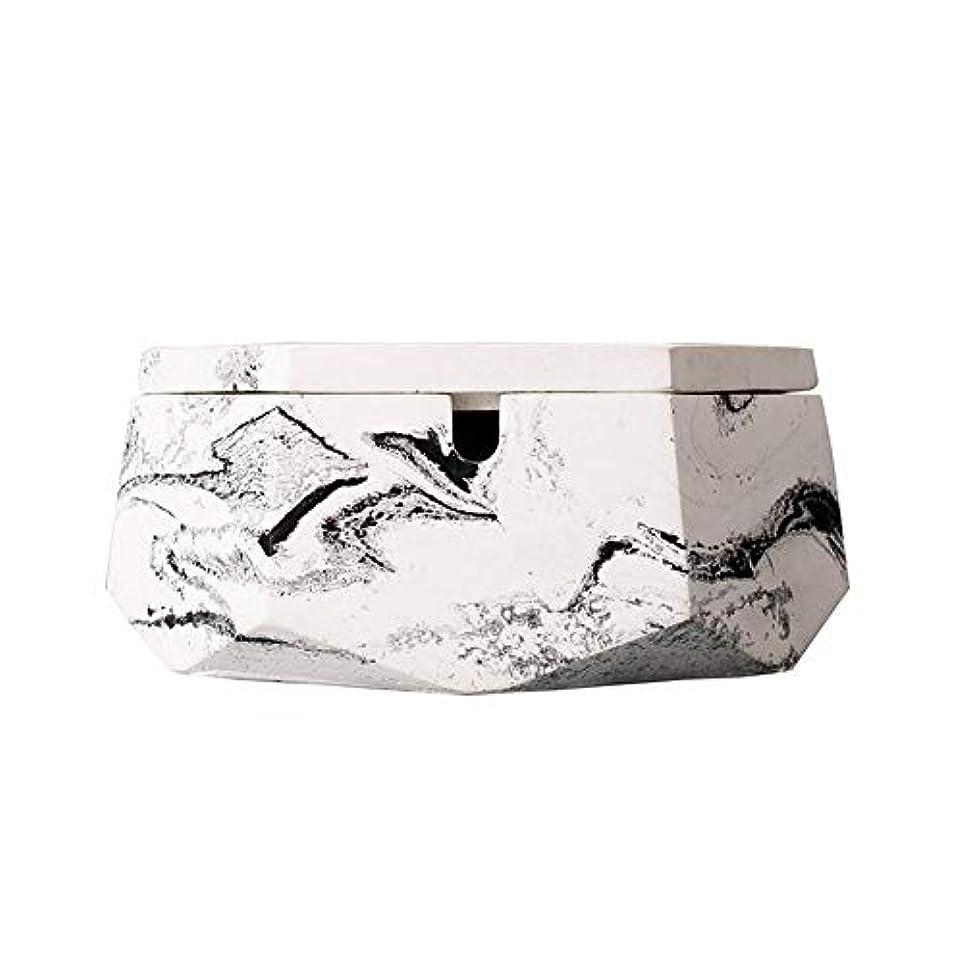 聴く配分文句を言う灰皿、ふたが付いている新しさのステンレス鋼の現代卓上灰皿、屋内または屋外での使用のためのタバコの灰皿、喫煙者のための灰ホルダー、ホームオフィスの装飾のためのデスクトップの喫煙灰皿