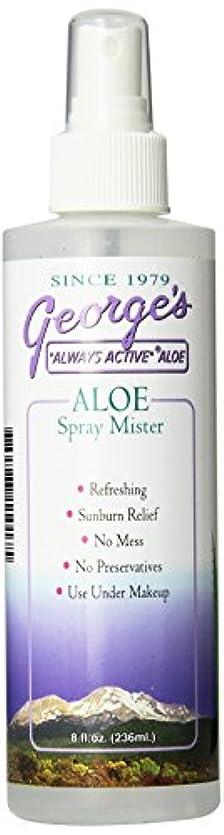 維持する曲げる王室海外直送品 George's Aloe Vera Aloe Vera Spray Mister, 8 oz