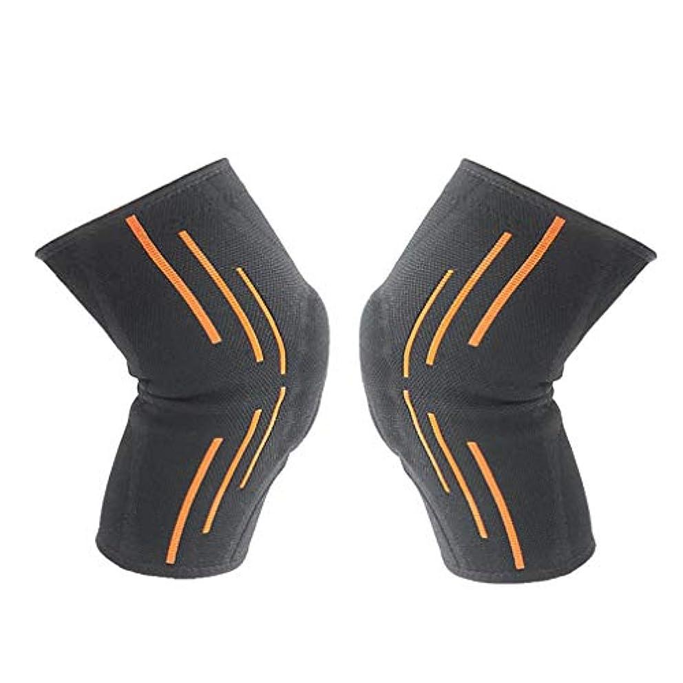 柔らかい滑り止めのシリコーンの男性の女性の大人の膝パッドはバスケボールを防ぎます-Rustle666