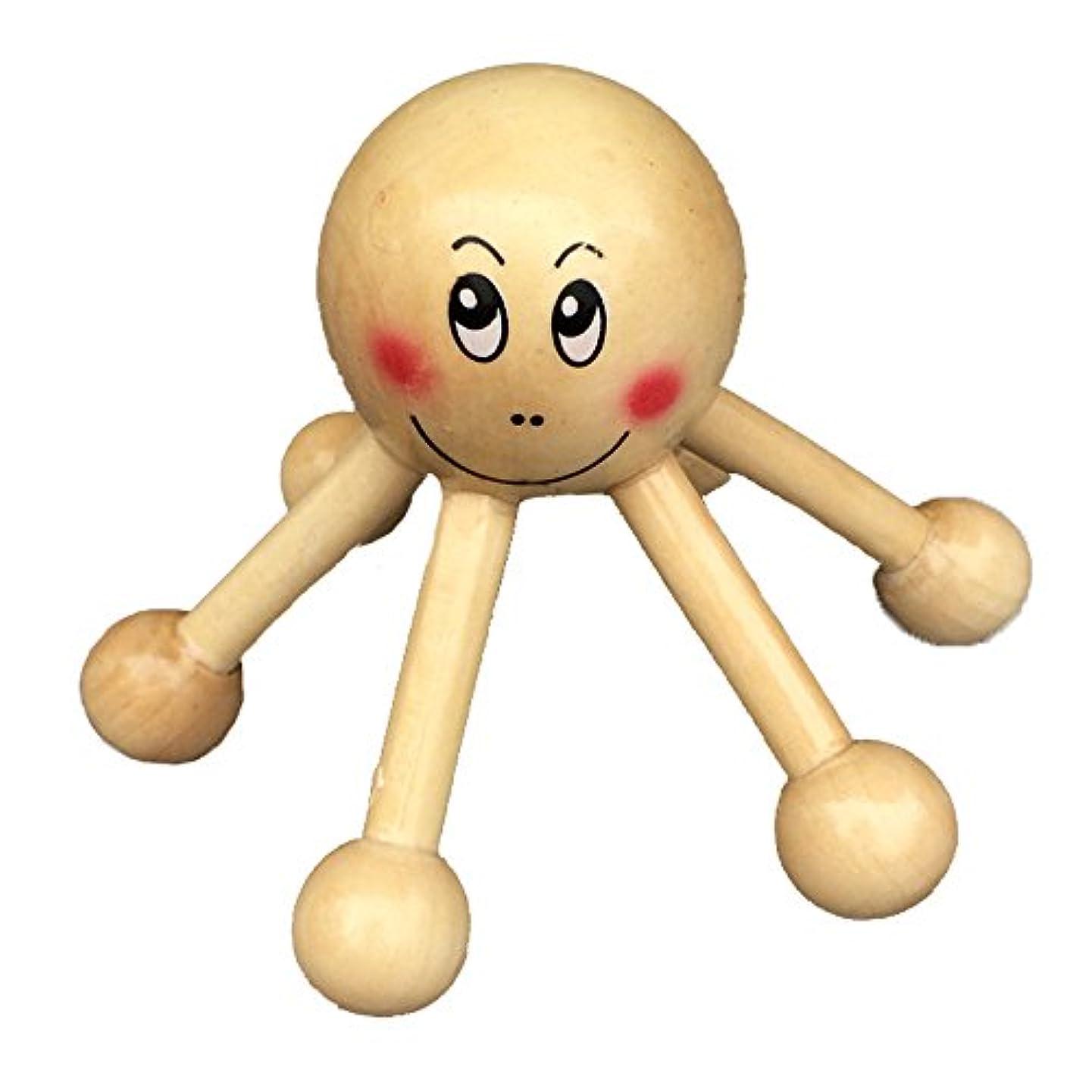 フルーツ進むジャグリングマッサージャー 木製 ヘキサゴンマッサージ 首 腰 足 バックと肩のマッサージ リラックス ツール