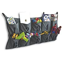 Tasca Canvas Hanging Wall Organizer with Number Printed Pockets Organizational Kid's Room Storage for Ipad Books Toys Kid's Clothing Diapers and Many More (10 Pockets) ... [並行輸入品]