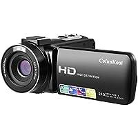 ビデオカメラ CofunKool FHD1080P 24MP 16倍デジタルズーム デジタルビデオカメラ 3.0インチパネル USB/HDMI出力 270度回転スクリーン バッテリー*2付き 日本語説明書付き