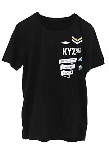 欅坂46 FC限定 ワッペンTシャツ  (XL, ブラック) -