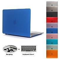 JUSHENG MacBook Pro Retina 13 インチ マット加工 ハードケース カバー (対応モデル:A1425/A1502 光学ドライブ無し) (靑い 01 blue) [並行輸入品]