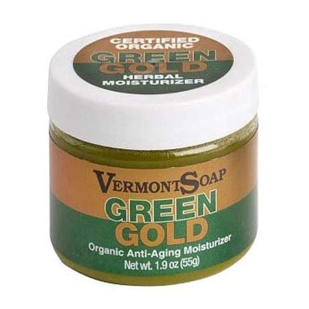 ゲージ請負業者別れるVermontSoap バーモントソープ グリーンゴールド ORGANIC MOISTURIZER GREEN GOLD (ほのかなラベンダー, (L) 55g)