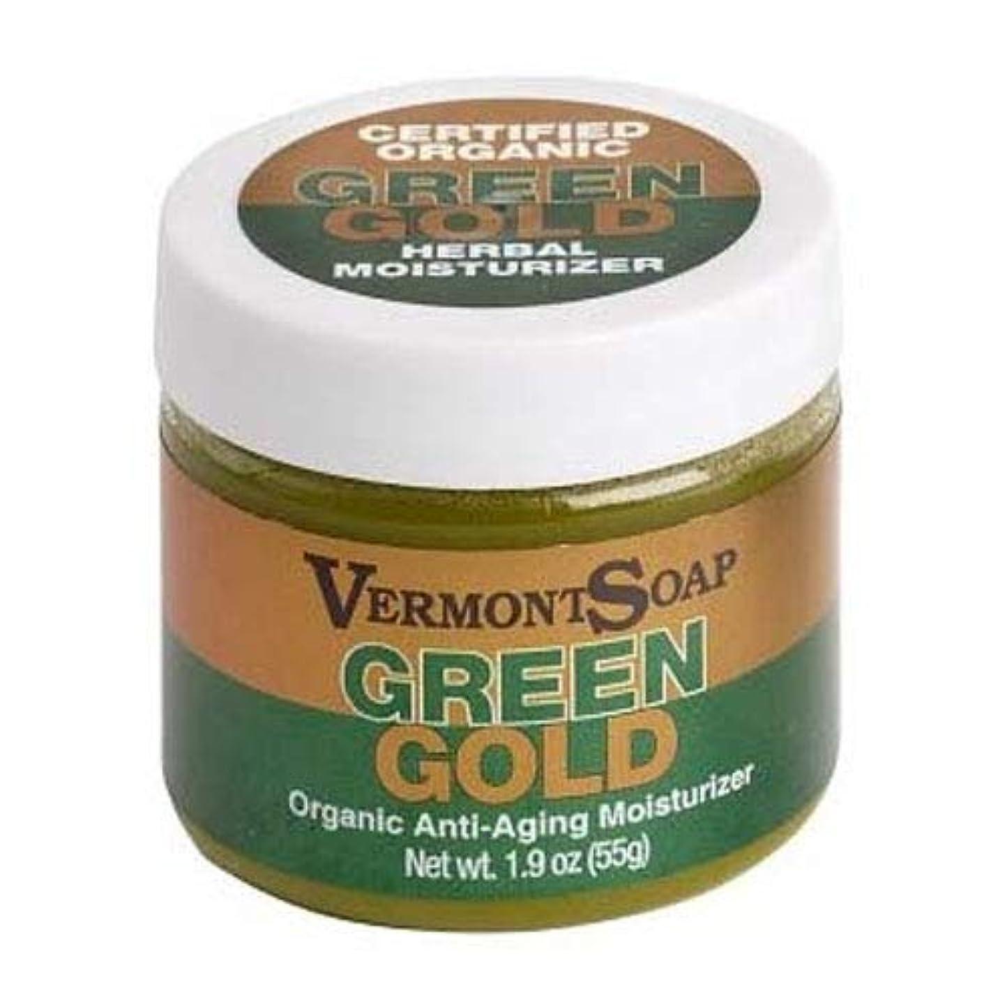 巨大拒絶するアルカトラズ島VermontSoap バーモントソープ グリーンゴールド ORGANIC MOISTURIZER GREEN GOLD (ほのかなラベンダー, (L) 55g)