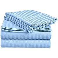 Impression byホームコレクション400スレッド数100 %エジプト綿リッチ4ピースベッドシートセット クイーン ブルー