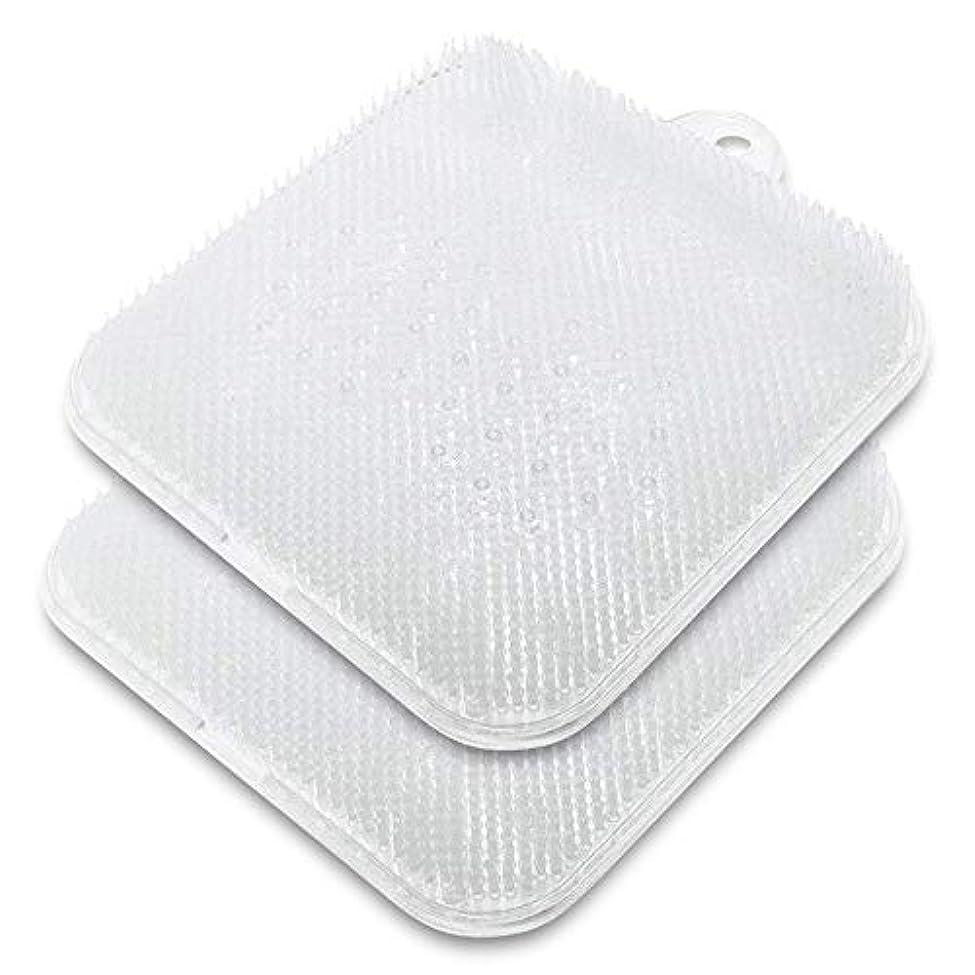 ウェイトレス甘美な面積足洗いマット ONUEMP 足洗いブラシ 2セット足洗い用 バスマット 足ブラシ マッサージ マット 角質ケアブラシ