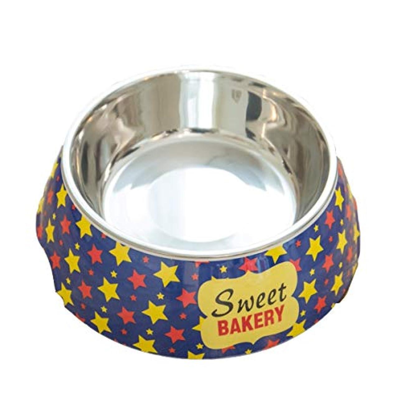 Xian ドッグボウルキャットボウル、ダブルレイヤーシングルボウル、ノンスリップドッグフードボウル、キャットライスボウル、テディボウル、ドリンクボウル、ペットの猫とドッグフードボウル、4オプション Easy to Clean Non-Skid Bowls for Dogs (Color : Blue, Size : S)