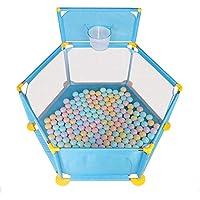 マット付きポータブルベビープレイラード屋外でのポータブルプレイペン屋内プレイ (色 : 青)