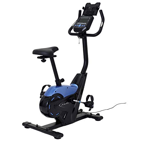 ALINCO(アルインコ) フィットネスバイク プログラムバイク6119 【1日の運動不足を補うアルインコ専用アプリ連動対応】 健康管理 心拍数・体力評価測定 24段階負荷調整 タブレットトレー AFB6119
