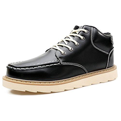 [ノーブランド品] メンズ カジュアルシューズ Men's Casual Shoes ポインテッドトゥ 防水 ハイカット 厚底 JBWLXD-K89 ブラック 26.5cm [並行輸入品]