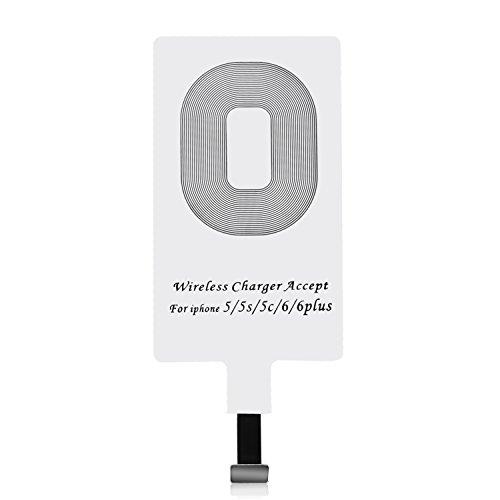 [해외]QI 치 수신기 무선 충전 수신기 충전 수신기 시트 아이폰 전용 Apple iPhone 7|7 Plus | 6 | 6 Plus | 5 | 5s | 5c/QI Q Receiver Wireless Charge Receiver Charger Receiver Sheet for iPhone Apple iPhone 7|7 Plus | 6|6 Plus | 5 | 5s | 5c