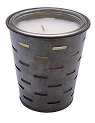 Sweetオリーブ、オリーブバケットFragrance Candle優れ、香り、ガラスJar in Tin Pot亜鉛メッキ、13oz