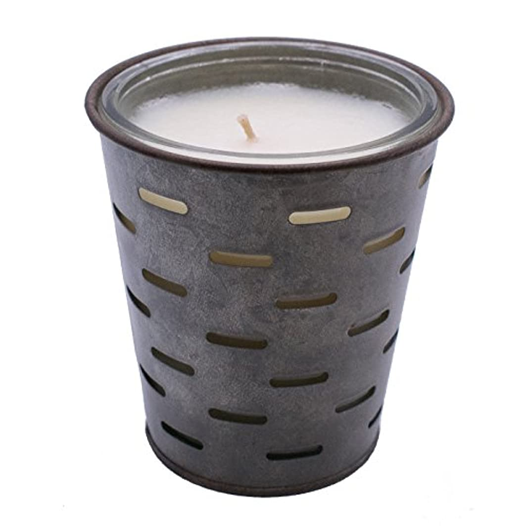 アナウンサー著作権知的Sweetオリーブ、オリーブバケットFragrance Candle優れ、香り、ガラスJar in Tin Pot亜鉛メッキ、13oz