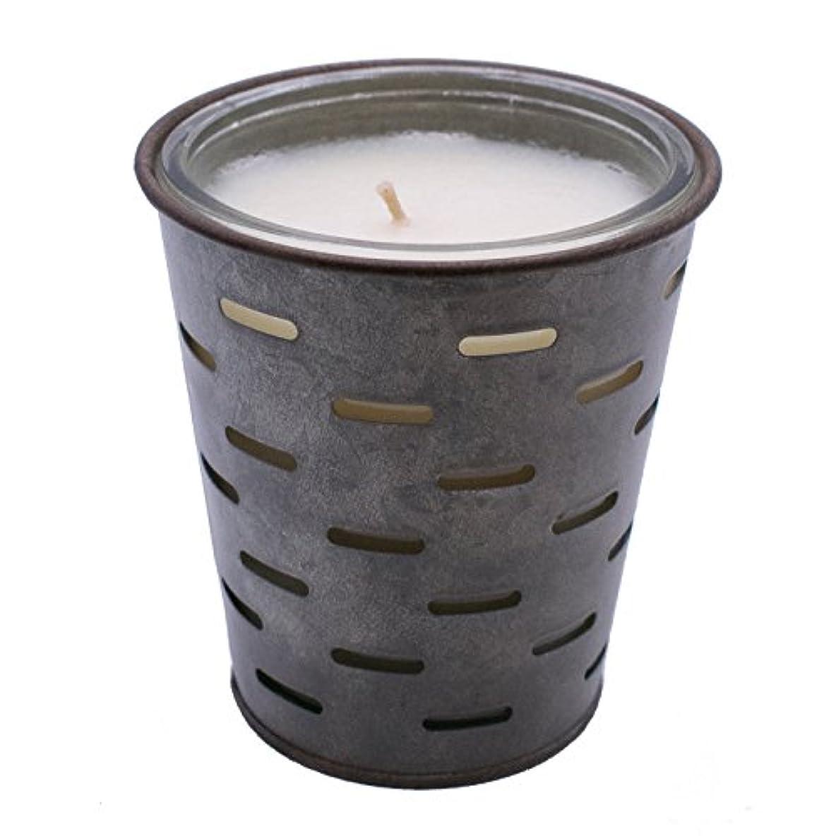 切手グリーンバックシルエットSweetオリーブ、オリーブバケットFragrance Candle優れ、香り、ガラスJar in Tin Pot亜鉛メッキ、13oz