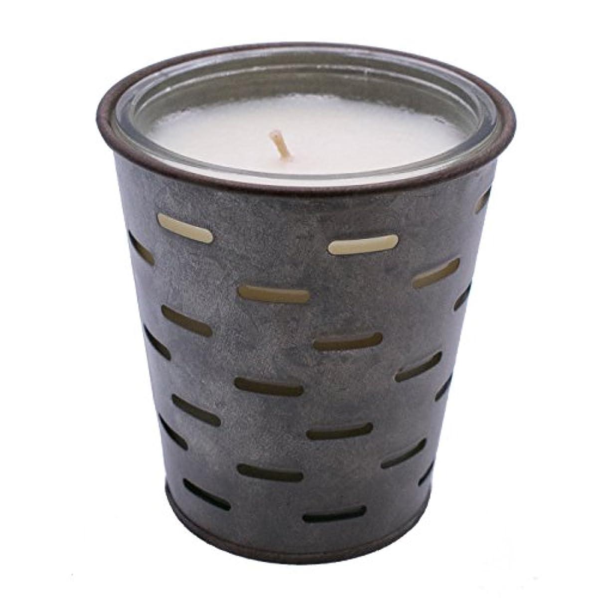 ちなみに連邦伝染性Sweetオリーブ、オリーブバケットFragrance Candle優れ、香り、ガラスJar in Tin Pot亜鉛メッキ、13oz