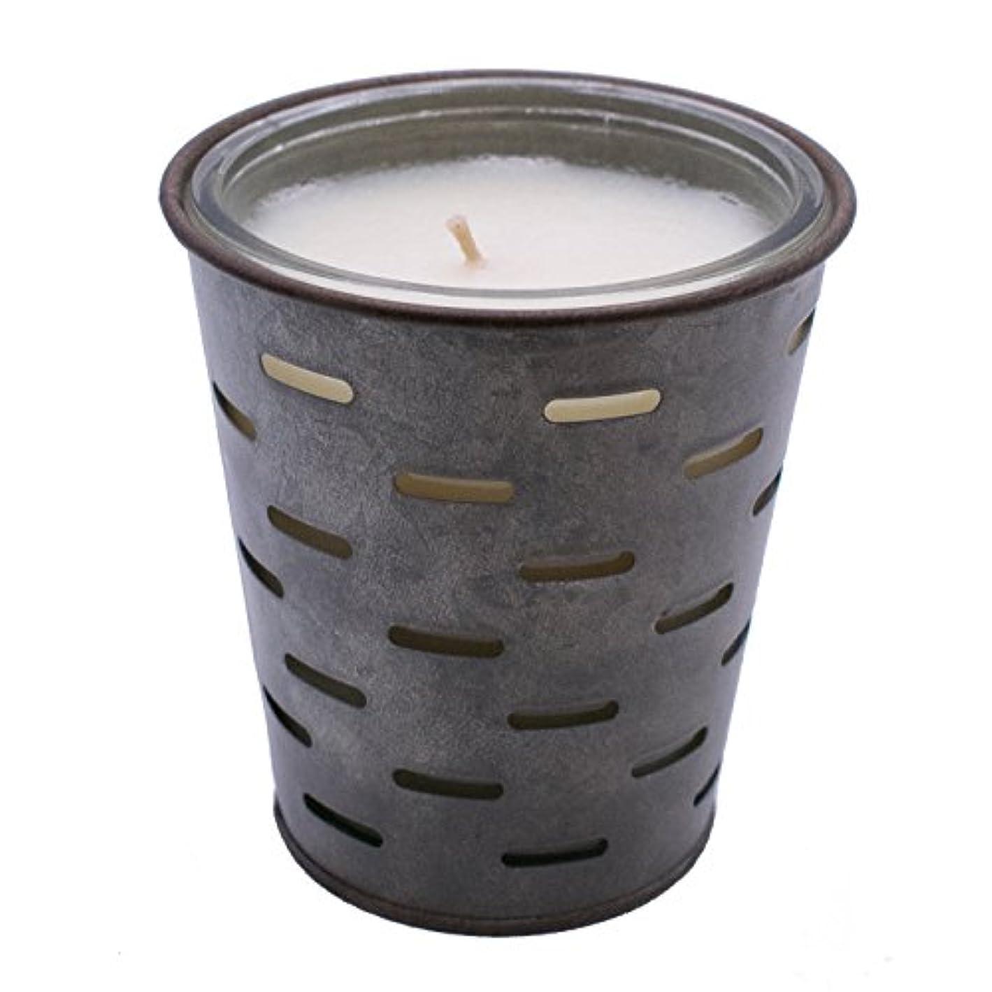 エゴマニア記念日処理Sweetオリーブ、オリーブバケットFragrance Candle優れ、香り、ガラスJar in Tin Pot亜鉛メッキ、13oz