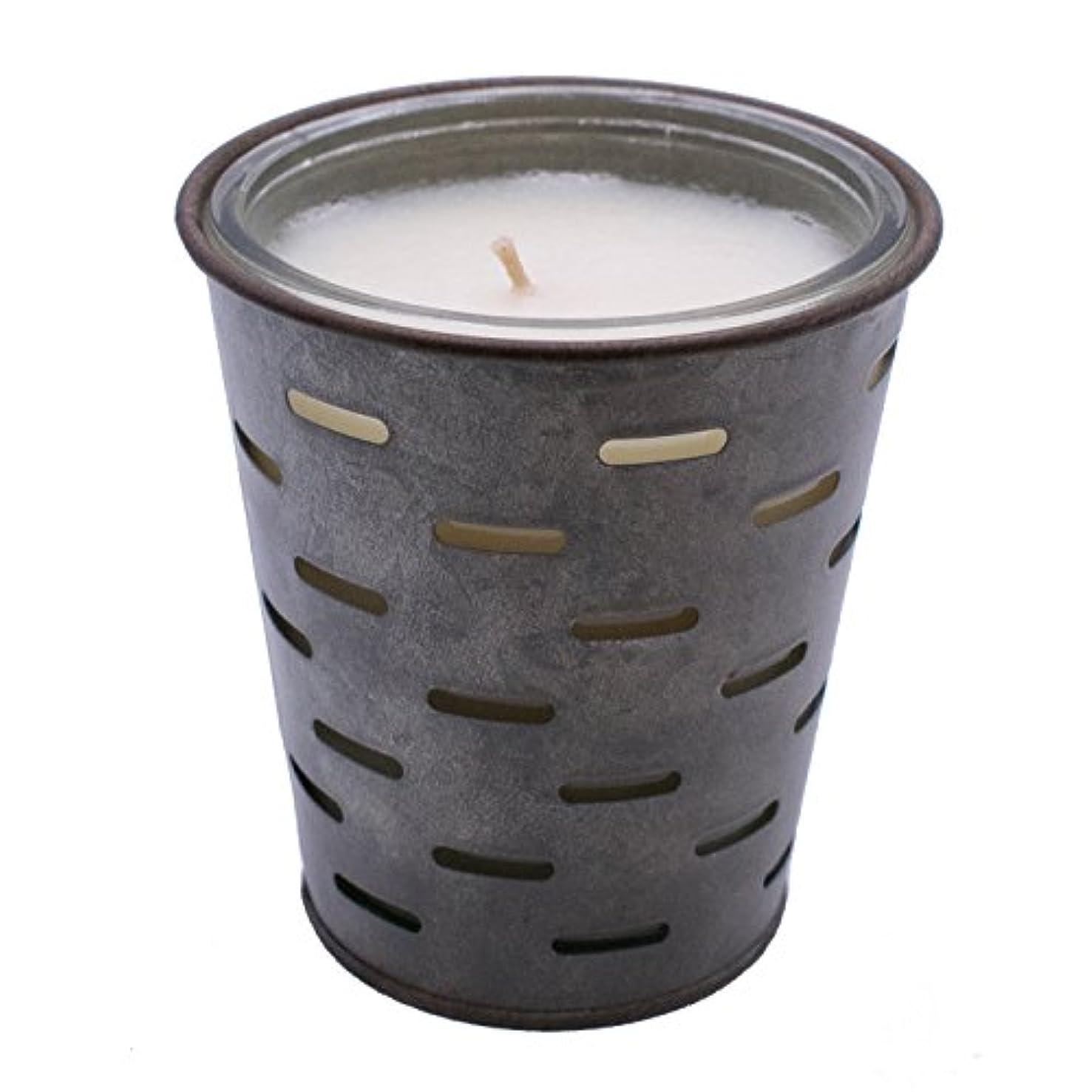 マージキャリア日付付きSweetオリーブ、オリーブバケットFragrance Candle優れ、香り、ガラスJar in Tin Pot亜鉛メッキ、13oz