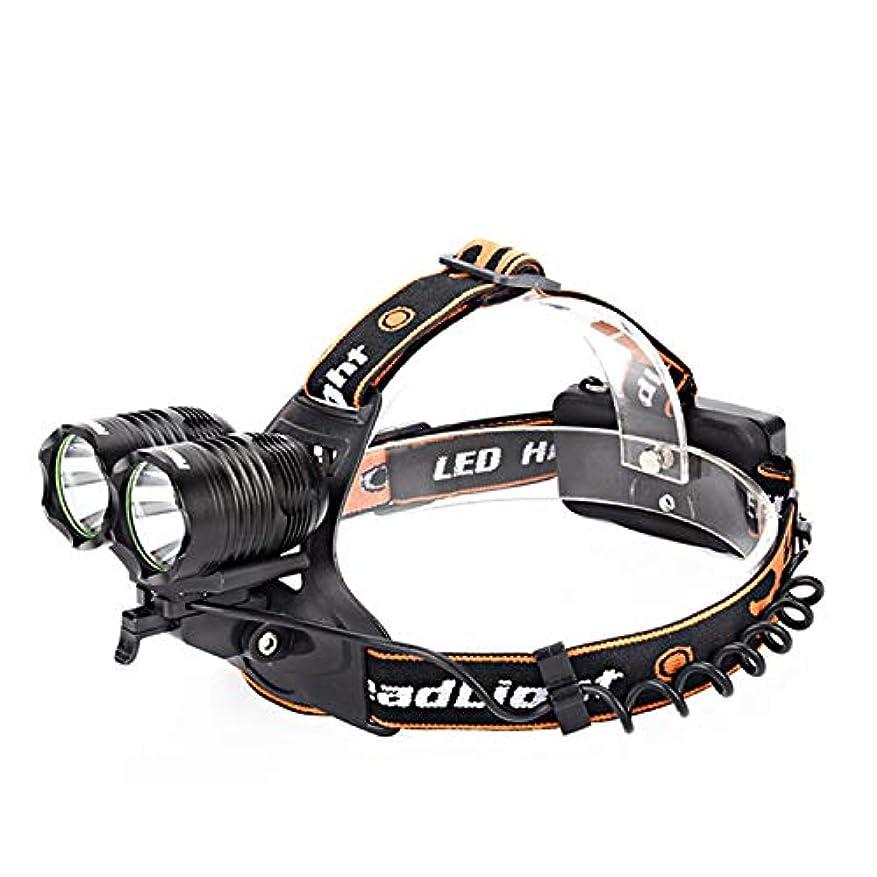 野ウサギ口指令デュアルコア2T6固定焦点ストロングヘッドライト、充電遠距離ナイトフィッシングライト屋外LEDハイパワーヘッドライト