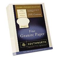 Southworth 934C Fine Granite paper- 24ポンド。- - - - - - - 8–1/ 2x 11- ivory- 500/ボックス