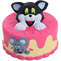 cloudro Squishies Slow Risingおもちゃ、Squishiesジャンボ香りつき可愛い動物Squishy男の子女の子パーティーギフト応力Relieverのおもちゃ、かわいい猫犬ケーキ マルチカラー 703486632795