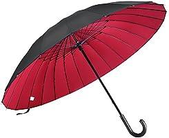 [NARPRO] 長傘 大型 130センチ 高強度 24本傘骨 軽量 晴雨兼用 UVカット 収納ケース付 男女兼用
