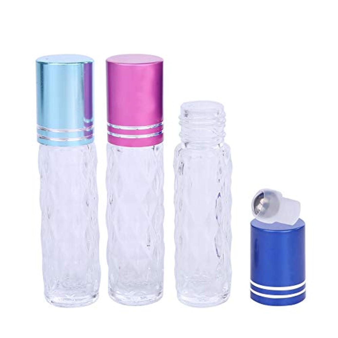 シートマイルストーン番号アロマスミス ロールオンボトル 7ml 3本セット ステンレスボール スポイト付 精油 エッセンシャルオイル 保存容器 詰替え 3色セット