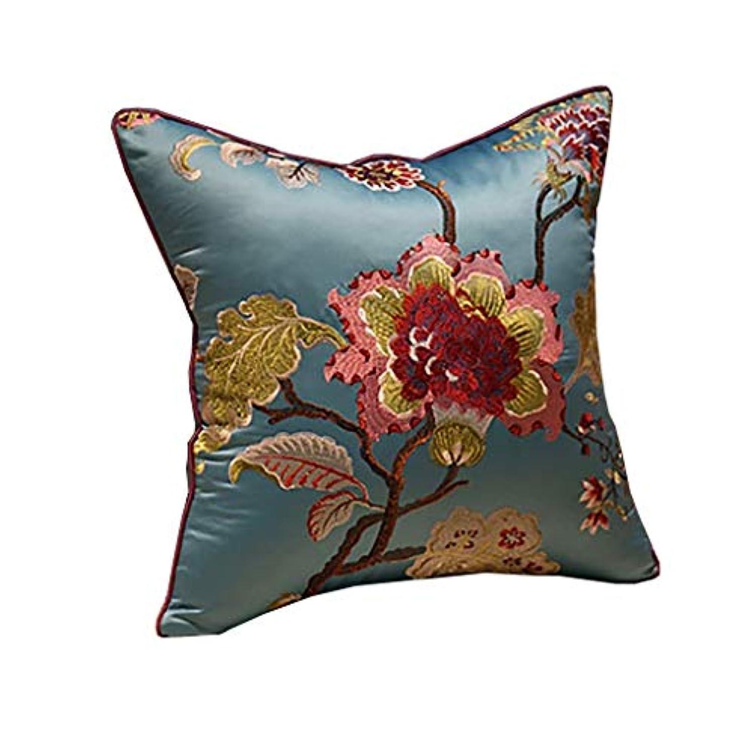 春標準スイス人31-luoshangqing 人間工学に基づいたリラックス体圧ケアウエストライン中国風花柄ソファークッション枕クッション (Color : C, サイズ : 60CM*60CM)