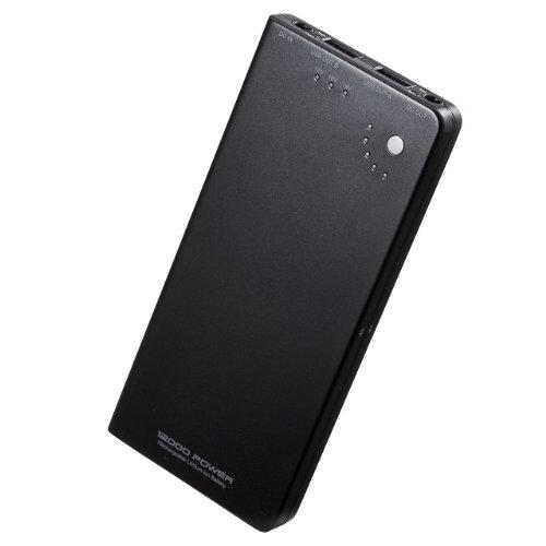 サンワダイレクト モバイルバッテリー 大容量 12000mAh 2ポート出力...