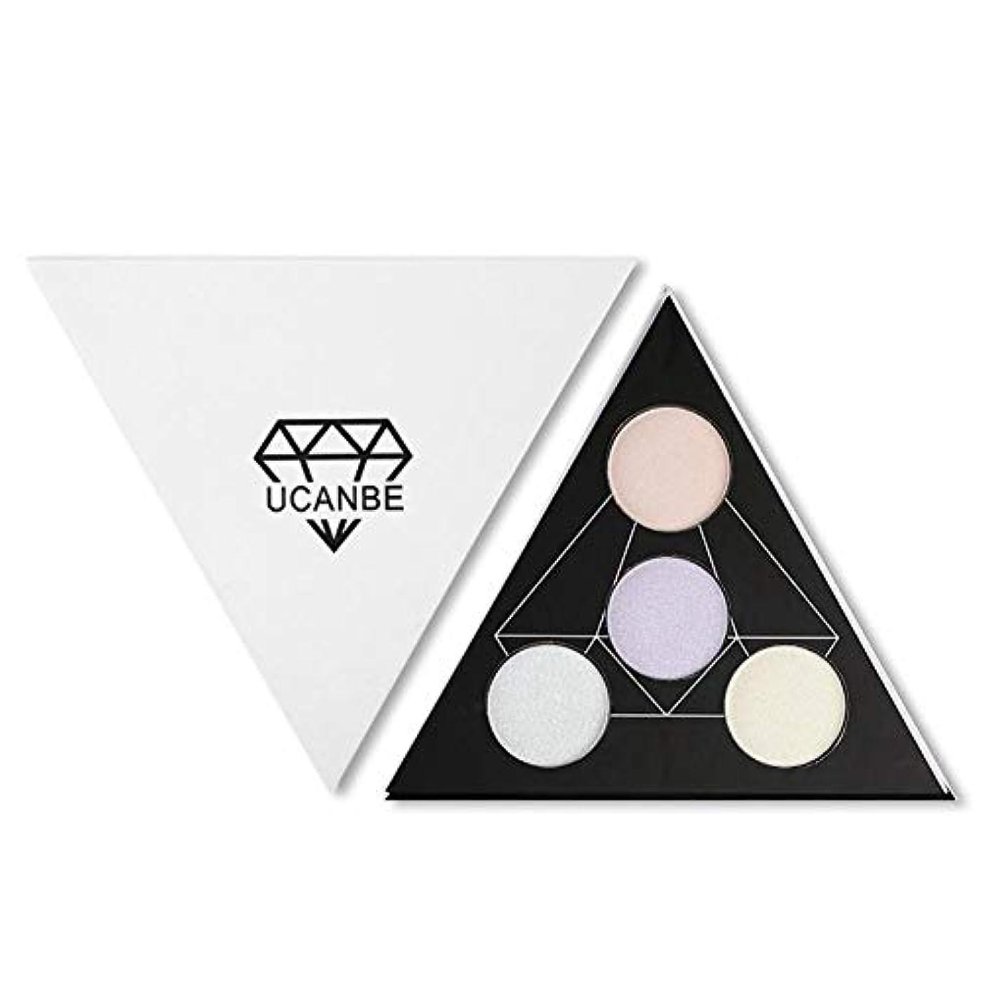 保持する億置換sunyueydeng アイシャドウ, 4色アイシャドウ化粧高精細ディスクカメレオン4色ハイライトパウダー修復アイシャドウトレイ2つ1つ(1#)