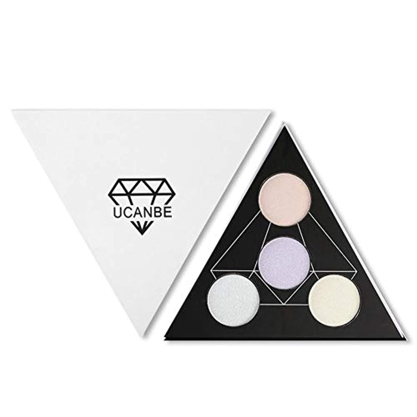 摩擦とは異なり指定するsunyueydeng アイシャドウ, 4色アイシャドウ化粧高精細ディスクカメレオン4色ハイライトパウダー修復アイシャドウトレイ2つ1つ(1#)