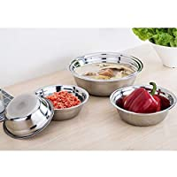 Best Quality - Bowls - 6 Sizes 14-24cm Stainless Steel mixing Bowl for Kitchen boll Restaurant Dinner Soup Stainless Rice Bowl bol inox Korean - by Tini - 1 PCs