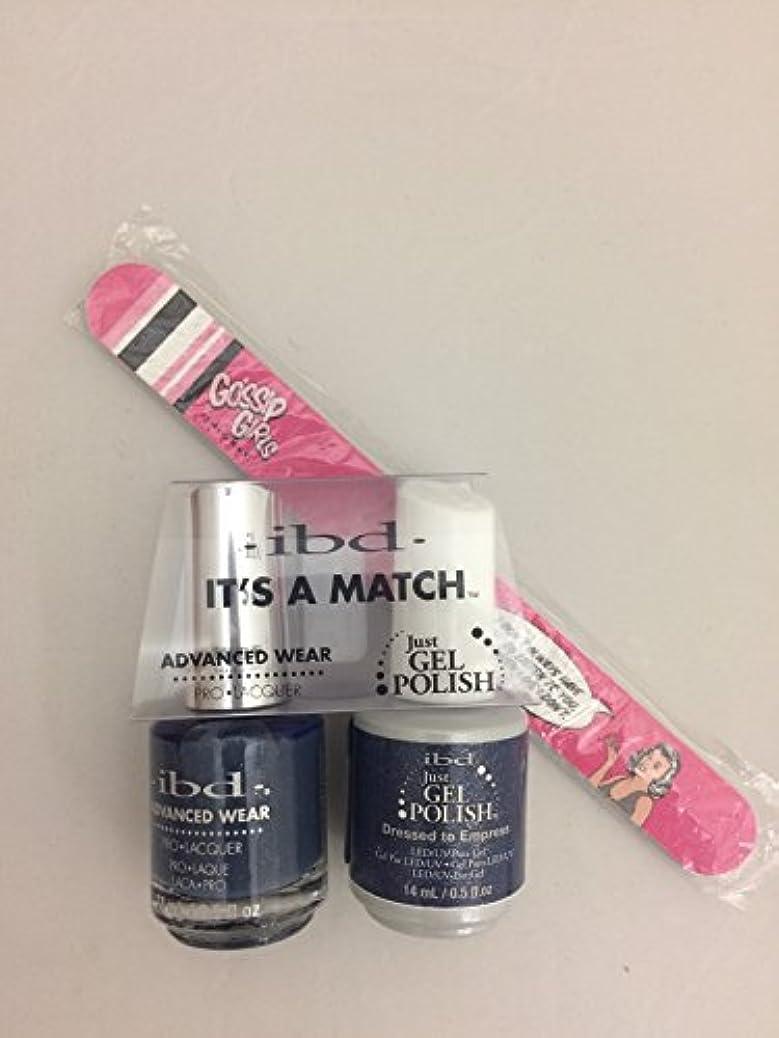 スタジオがっかりする枯渇ibd - It's A Match -Duo Pack- Imperial Affairs Collection - Dressed to Empress - 14 mL / 0.5 oz Each