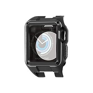 エレコム Apple Watch ケース 42mm ZEROSHOCK ブラック AW-42ZEROBK