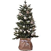 GROOVY OUTSTYLE クリスマスツリー オーナメント なし おしゃれ 北欧 リアル 樹木 組立簡単 ミニ ツリー (ブルージュミニオン, 70cm) 樅