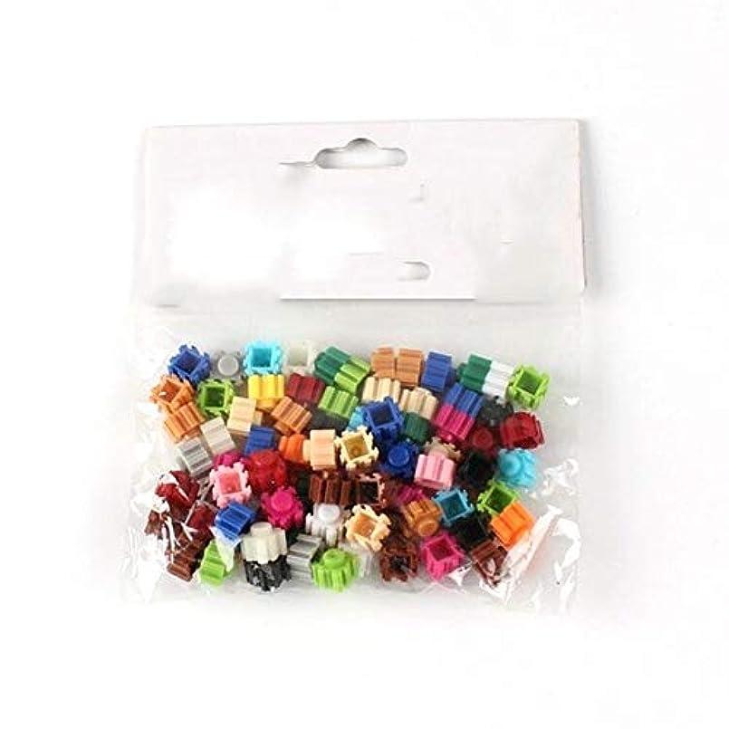 収束するこどもの日対角線ビルディングブロック ビルディング?ブロックダイヤモンドマイクロビルディングブロックレンガのバルクモデル図 (Color : 80pcs a bag, Size : 8mm)