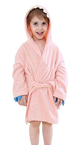0e23a577743c2 (ラボーグ) La Vogue 子供 ベビー バスローブ キッズ フード付き バスタオル 赤ちゃん お風呂 ポンチョ マント 男の子 女の子 アニマル  動物 可愛い ピンク S 可愛い ...