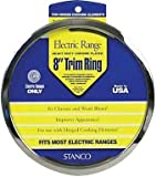 Stanco Range Trim Ring Fits Most Electric Ranges Chrome Plated Steel 8 In. [並行輸入品]
