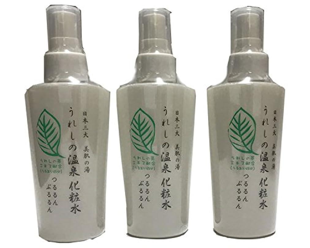 着服独立した中毒嬉野温泉 うれしの温泉化粧水 3本セット