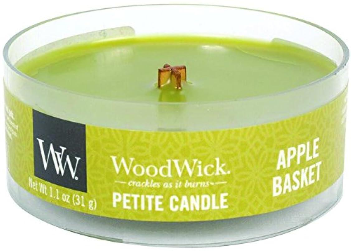 制限するコスチューム微妙Wood Wick ウッドウィック プチキャンドル アップルバスケット