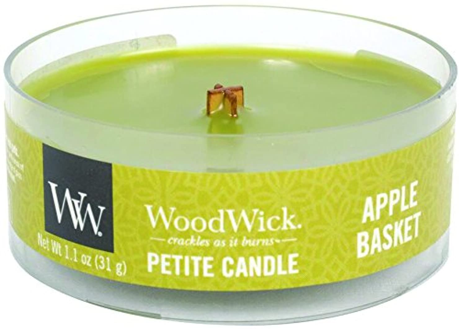 童謡リットル回転Wood Wick ウッドウィック プチキャンドル アップルバスケット