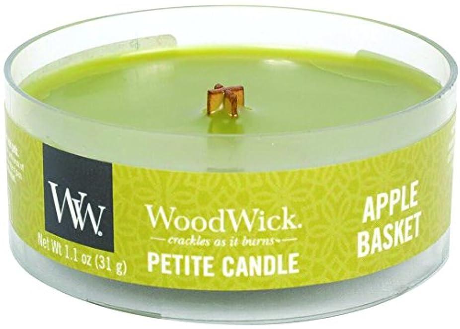 マンハッタン肩をすくめる形容詞Wood Wick ウッドウィック プチキャンドル アップルバスケット
