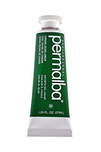 Permalba 37-mlアーティストオイルカラー、酸化クロムグリーン