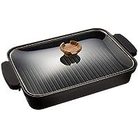 アイリスオーヤマ(IRIS OHYAMA) グリルパン ブラック 37.2×22.3×6cm スキレットコート IH対応 SKL-G