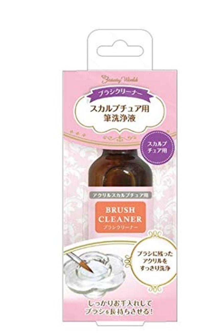 財政安西月面ブラシクリーナー 25ml ABC800 ネイル 爪 アクリル スカルプチュア ブラシ クリーナー 洗浄 綺麗 ビューティーワールド