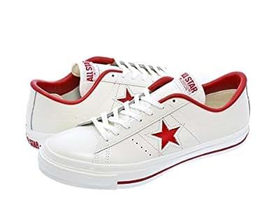 [コンバース] CONVERSE ONE STAR J WHITE/RED 【MADE IN JAPAN】
