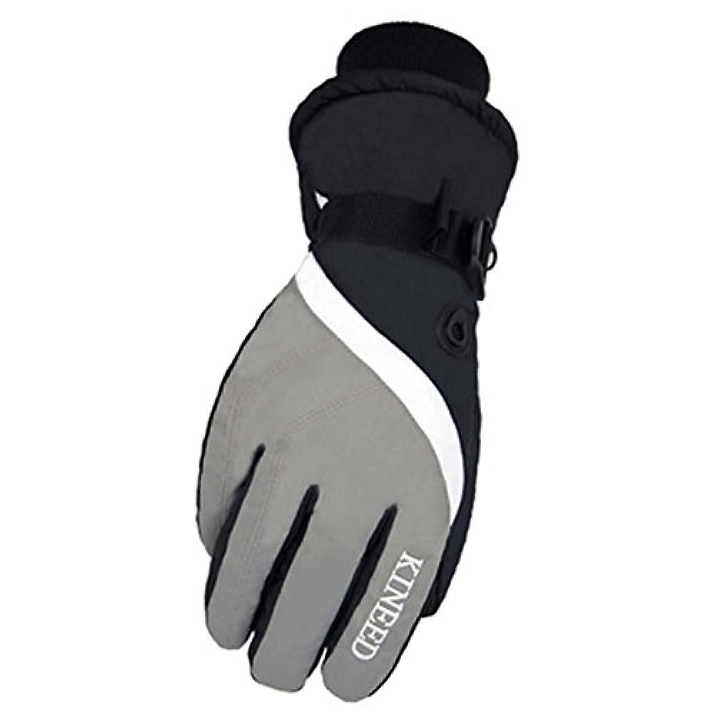 暖かい防風防水スキーグローブ冬スキーギアスポーツグローブメンズの、06