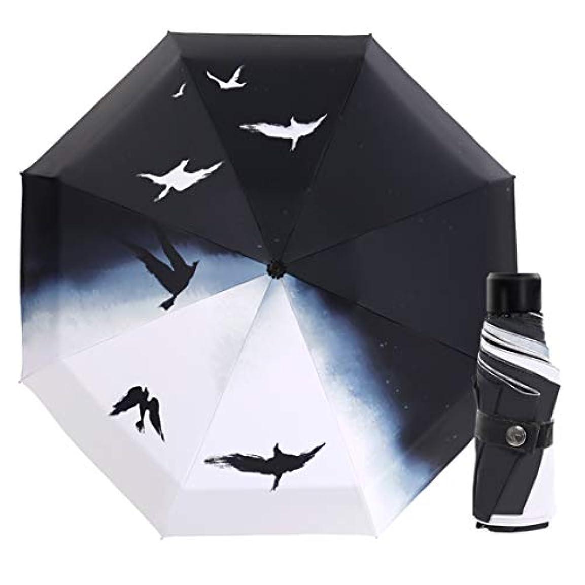 近く憂慮すべきに変わるHOHYLLYA 自動日傘紫外線保護日焼け止め傘超軽量折りたたみデュアルユース傘ポータブルスポーツ傘、防風傘 sunshade (色 : Multicolor)