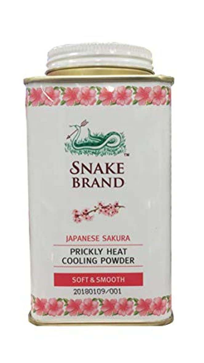 ホーン車両分泌するPrickly Heat Cooling Fresh Refreshing Body Powder Skin Moisture Snake Brand Japanese Sakura Soft Smooth140g ぷらっと...